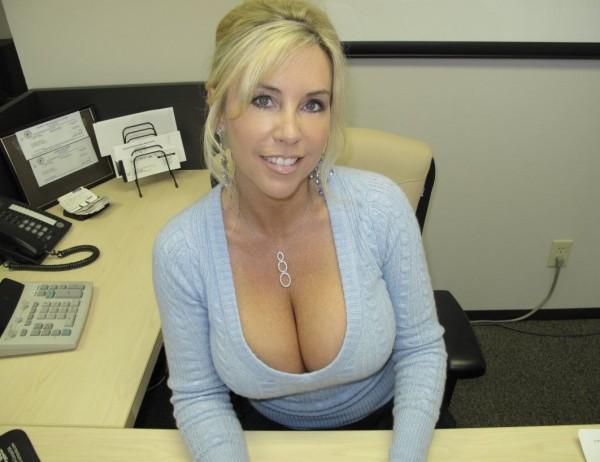 Big boob skinny woman