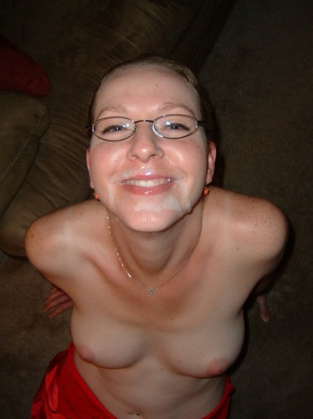 milf covered in cum