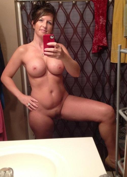 Skinny woman big tits naked