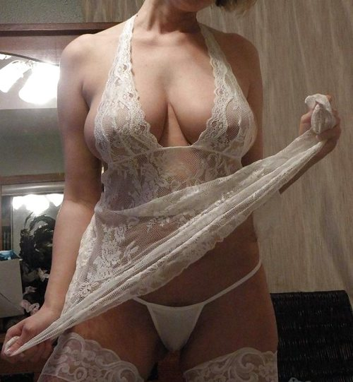 Busty milf lingerie Busty Milf In White Lingerie Private Milf Pics
